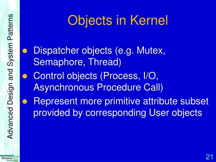 Objects in Kernel
