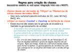 regras para cria o de classes necess rias somente se voc quiser integra o total com o root