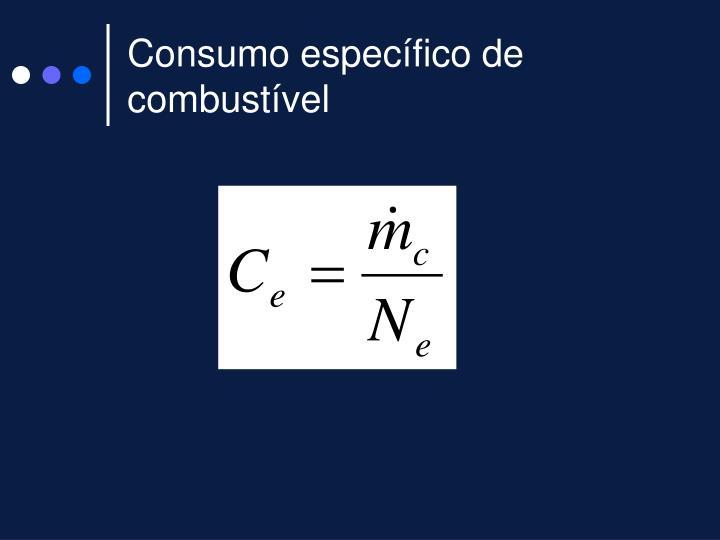 Consumo específico de combustível