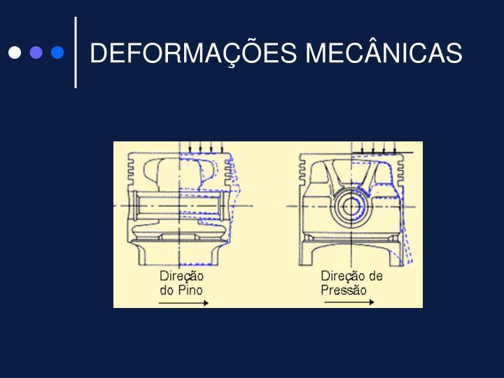 DEFORMAÇÕES MECÂNICAS