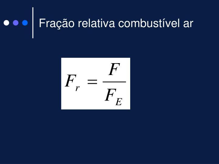 Fração relativa combustível ar