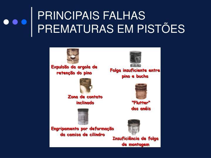 PRINCIPAIS FALHAS PREMATURAS EM PISTÕES