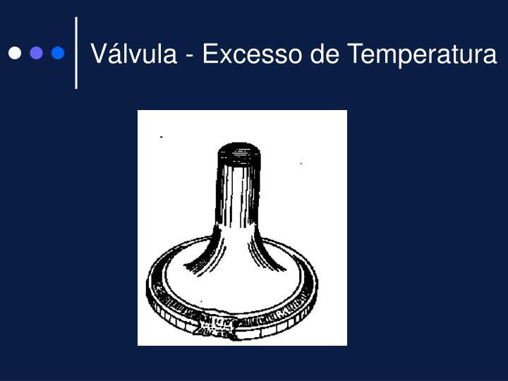 Válvula - Excesso de Temperatura