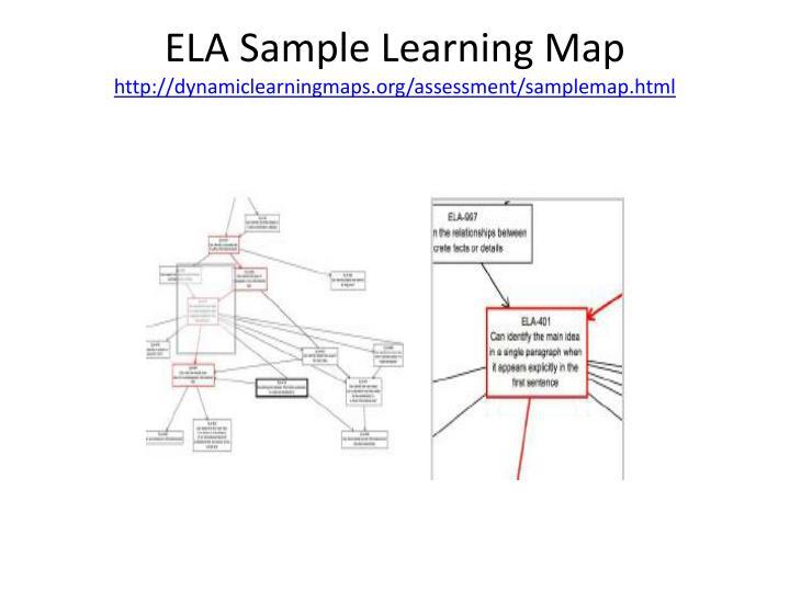 ELA Sample Learning Map