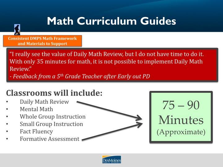 Math Curriculum Guides