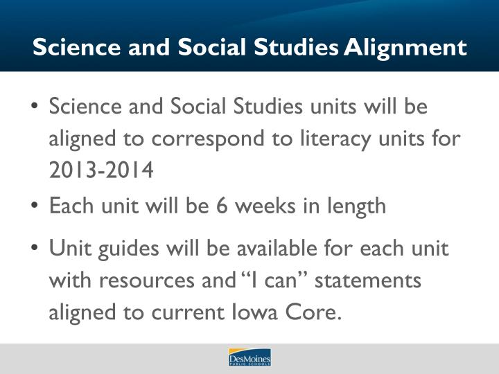 Science and Social Studies Alignment