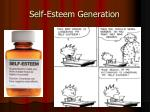 self esteem generation