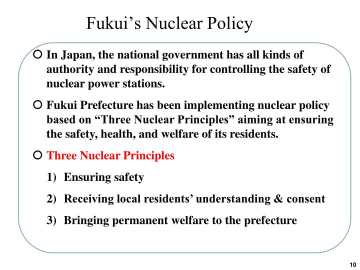 Fukui's Nuclear Policy