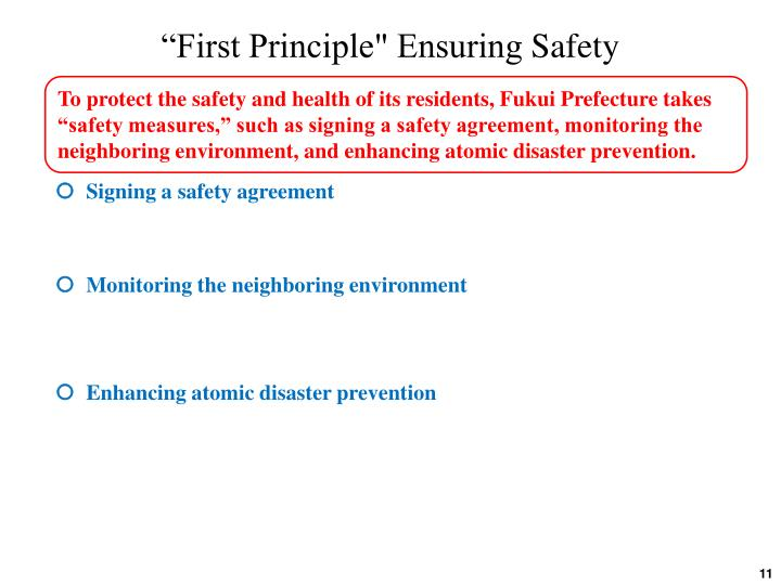 """""""First Principle"""" Ensuring"""