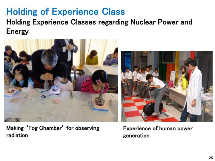 Holding of Experience Class