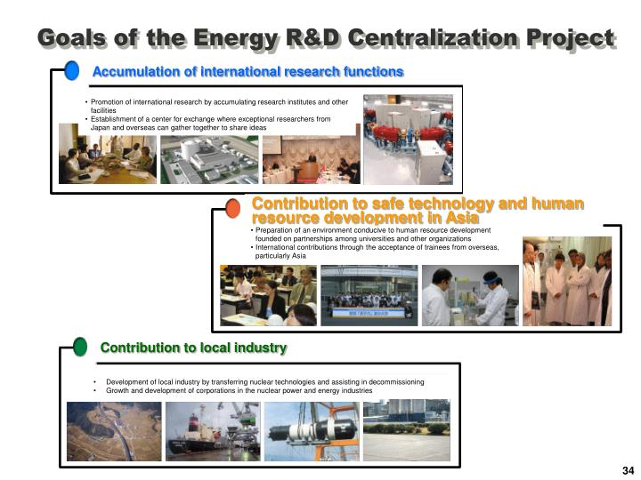 Goals of the Energy R&D Centralization Project
