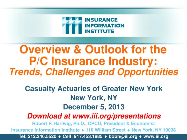 overview outlook for the p c insurance industry trends challenges and opportunities n.