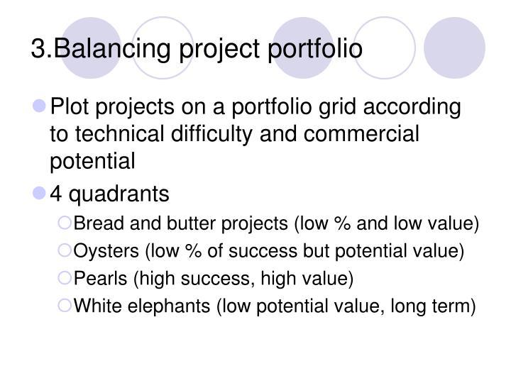 3.Balancing project portfolio
