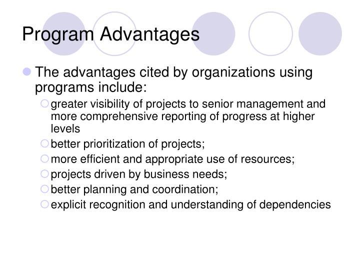Program Advantages