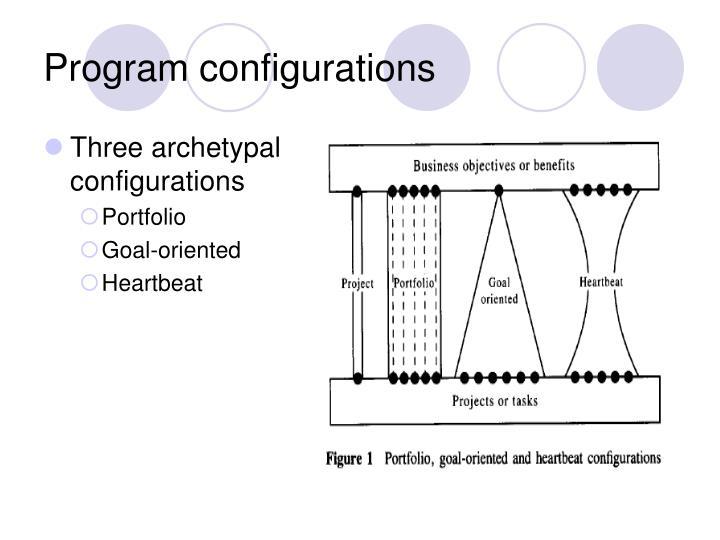 Program configurations
