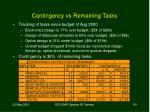 contingency vs remaining tasks