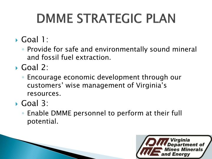DMME STRATEGIC PLAN