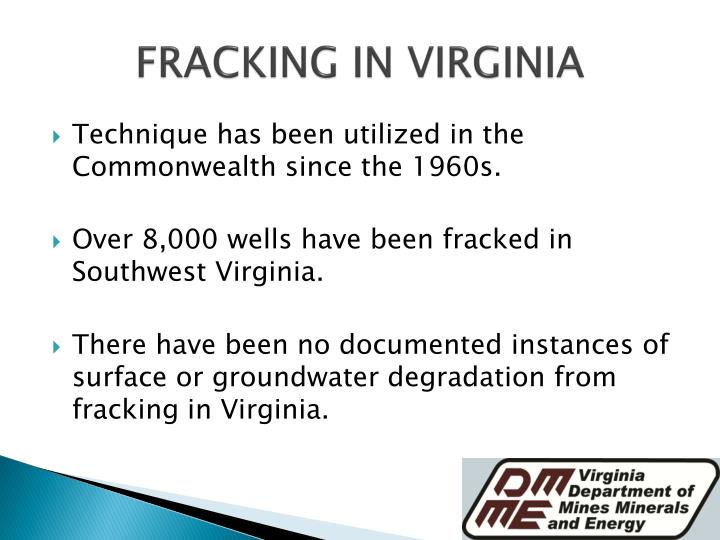 FRACKING IN VIRGINIA