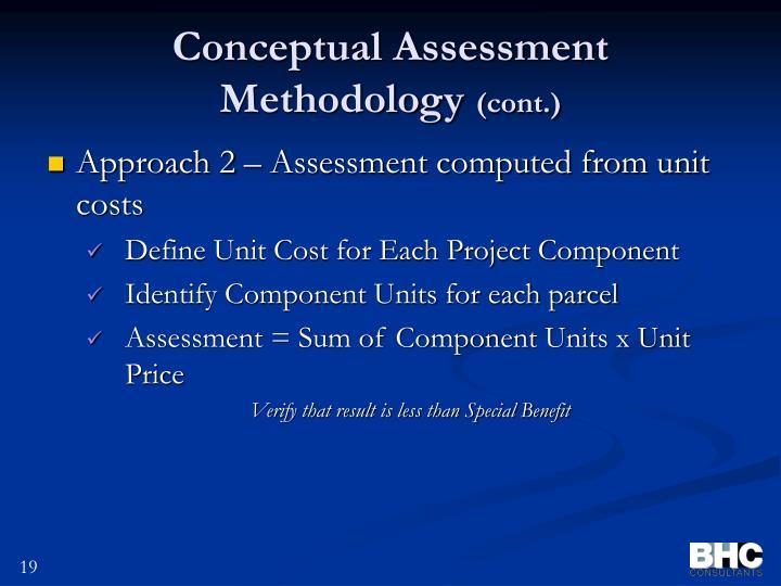 Conceptual Assessment Methodology