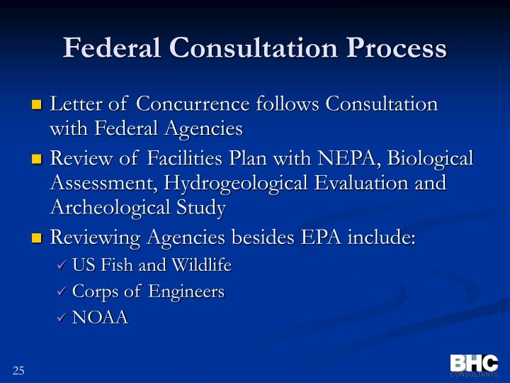 Federal Consultation Process
