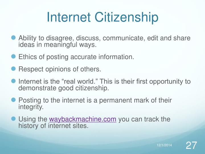 Internet Citizenship
