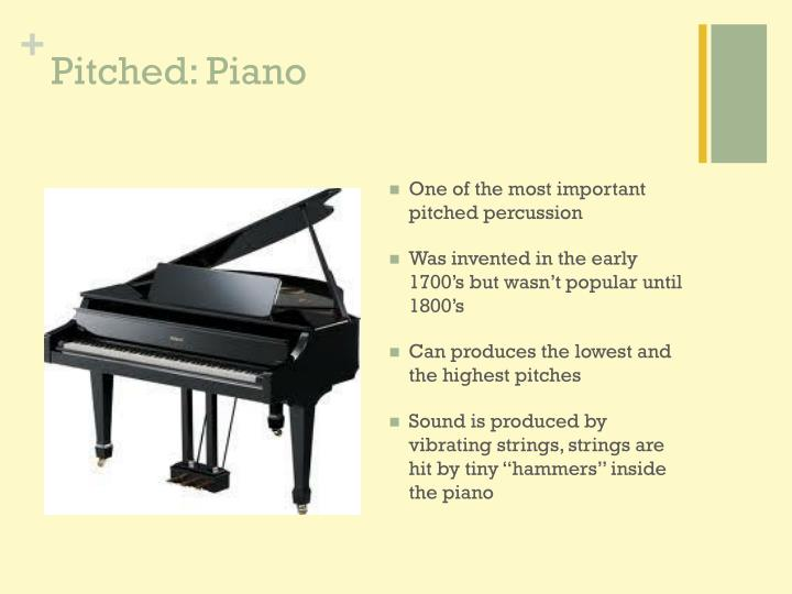 Pitched: Piano