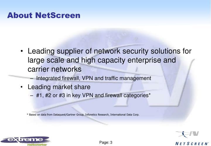 About netscreen