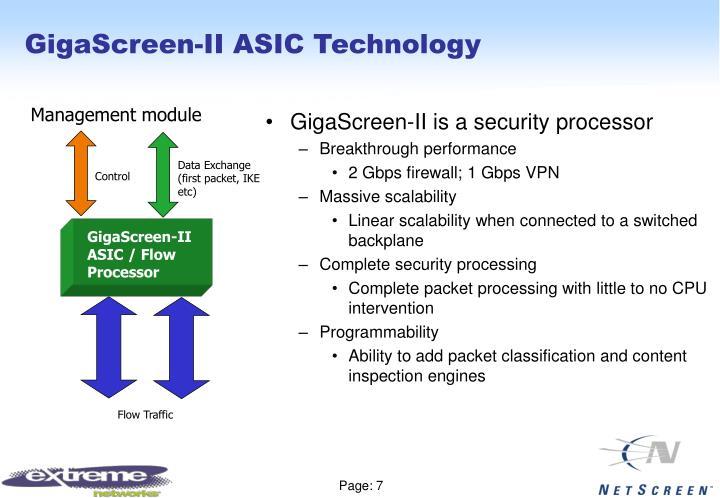 GigaScreen-II ASIC Technology