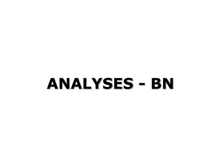 ANALYSES - BN
