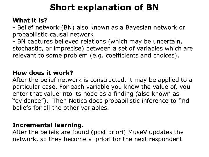 Short explanation of BN
