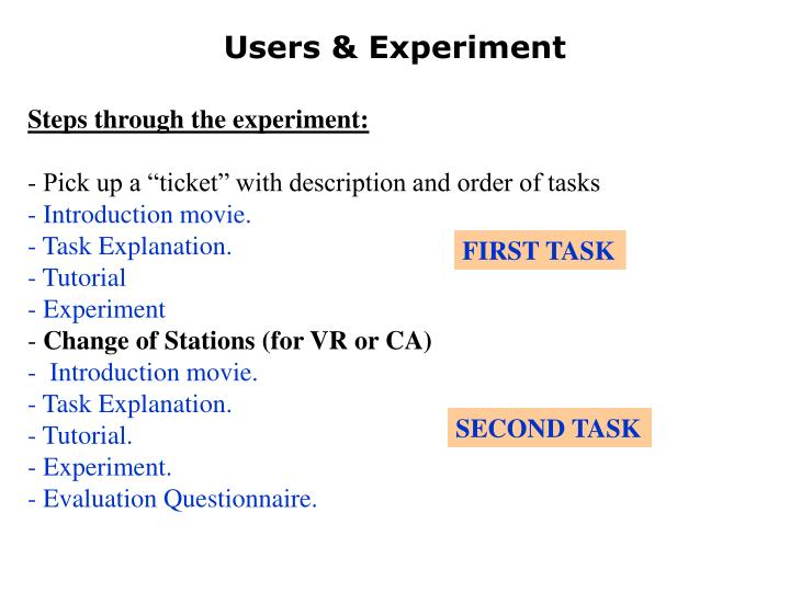 Users & Experiment