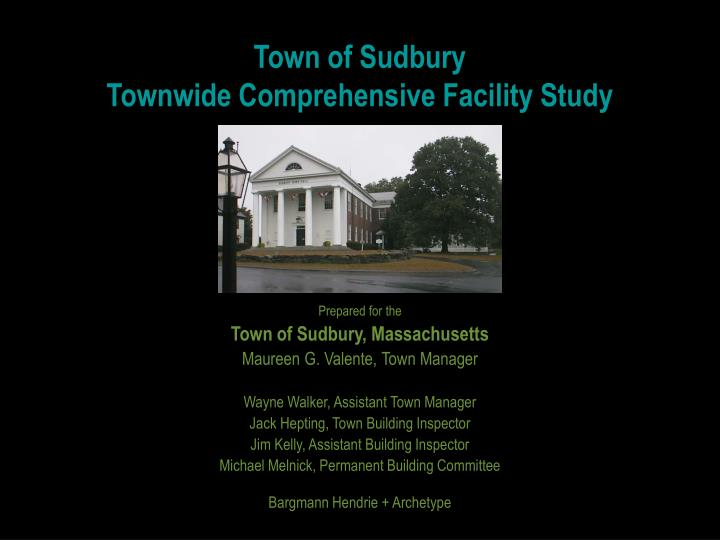 town of sudbury townwide comprehensive facility study n.