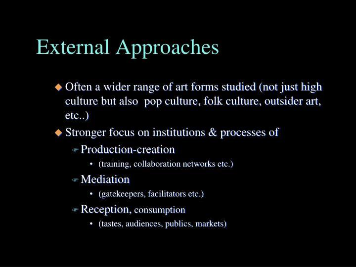External Approaches