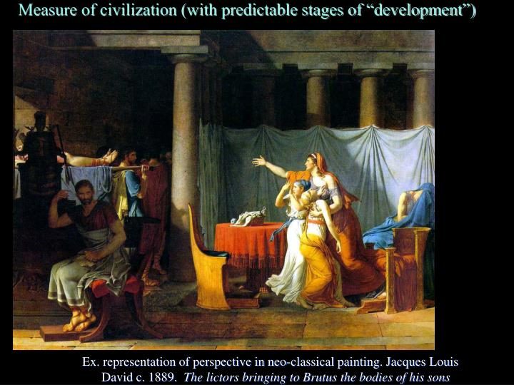 """Measure of civilization (with predictable stages of """"development"""")"""