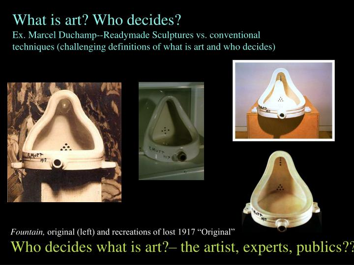 What is art? Who decides?