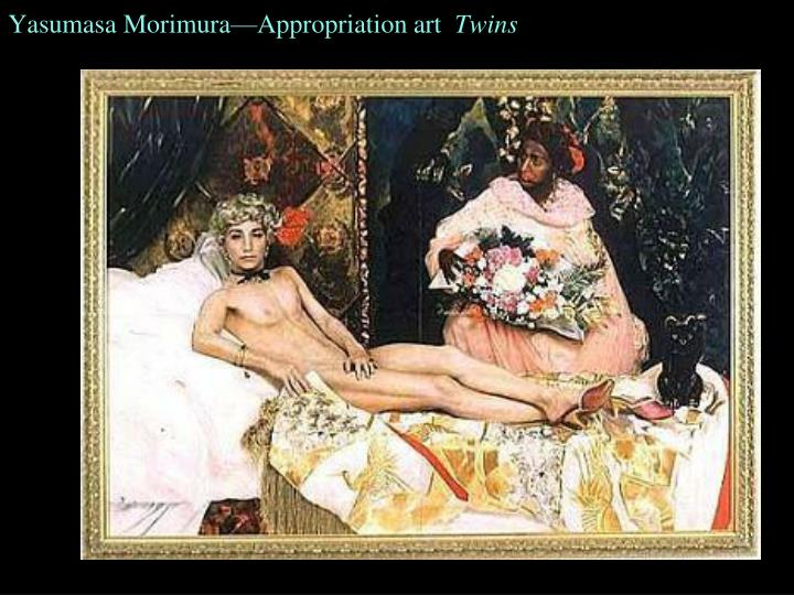 Yasumasa Morimura—Appropriation art