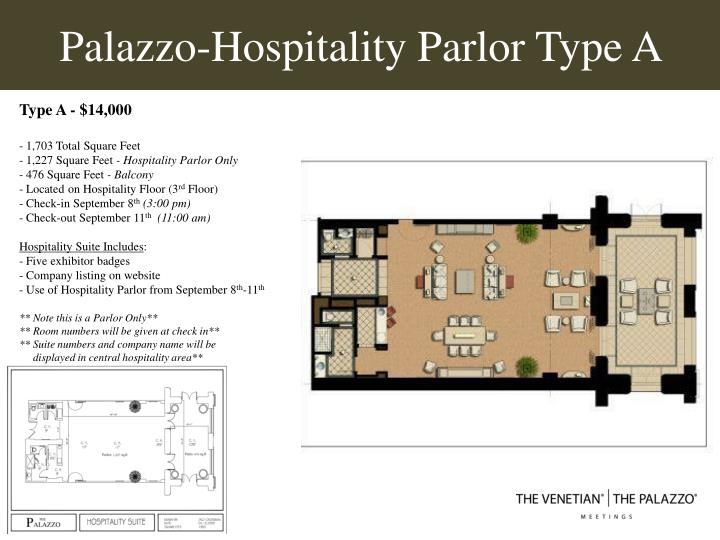 palazzo hospitality parlor type a n.