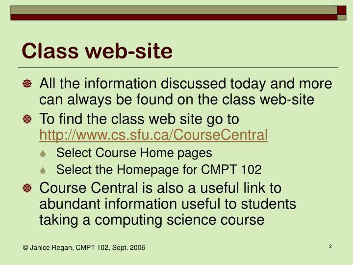 Class web site