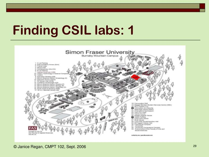 Finding CSIL labs: 1