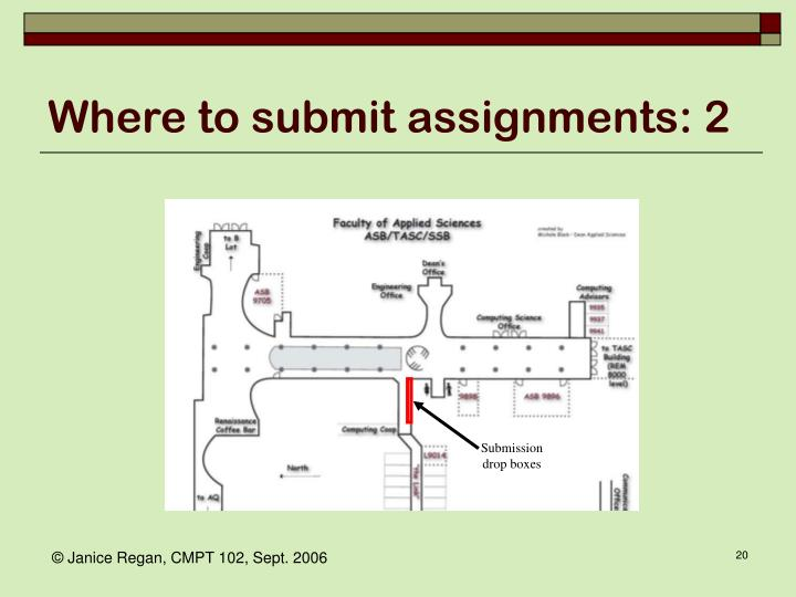 Where to submit assignments: 2