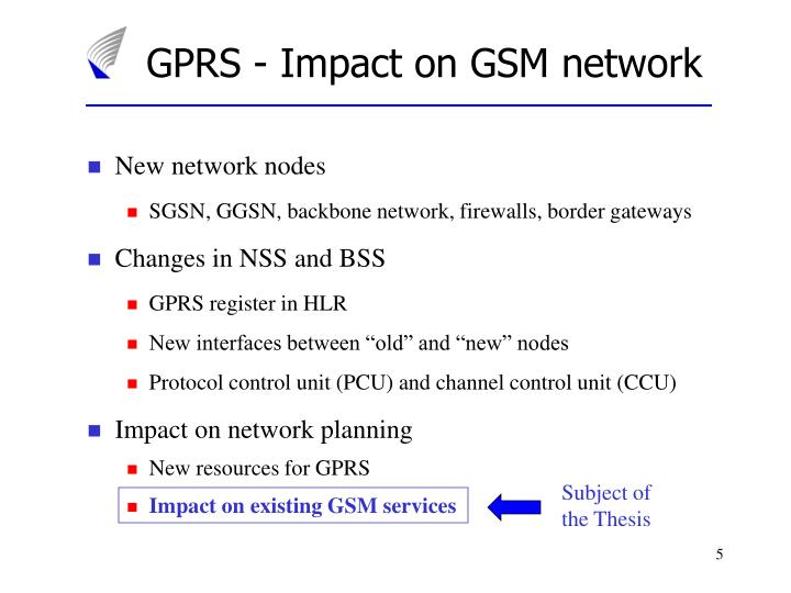 GPRS - Impact on GSM network