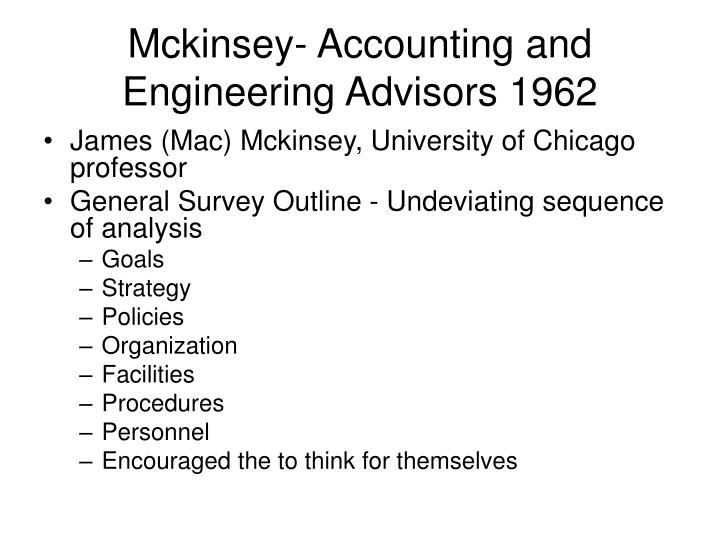 mckinsey accounting and engineering advisors essay Client development advisor – public sector at mckinsey & company for client development advisor teaching engineering / technical finance / accounting / audit.
