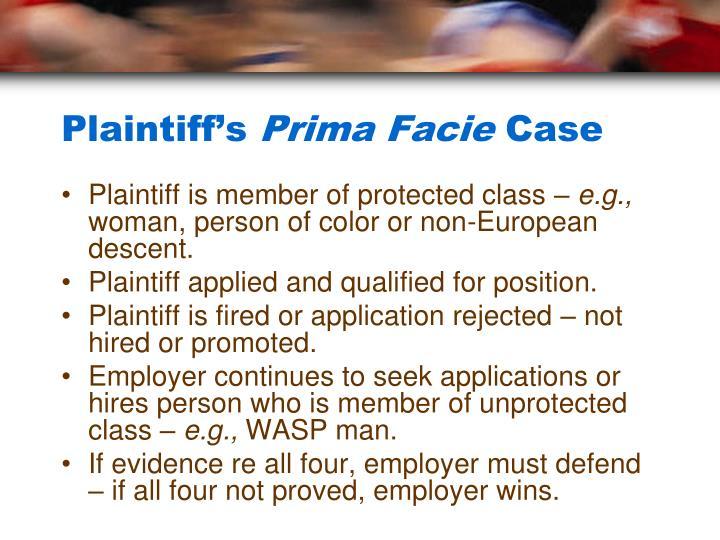 Plaintiff's