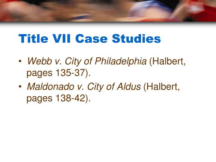 Title VII Case Studies