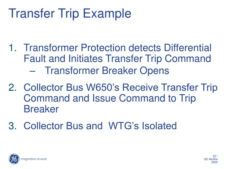 Transfer Trip Example