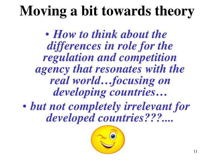 Moving a bit towards theory