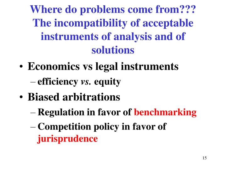 Where do problems come from???