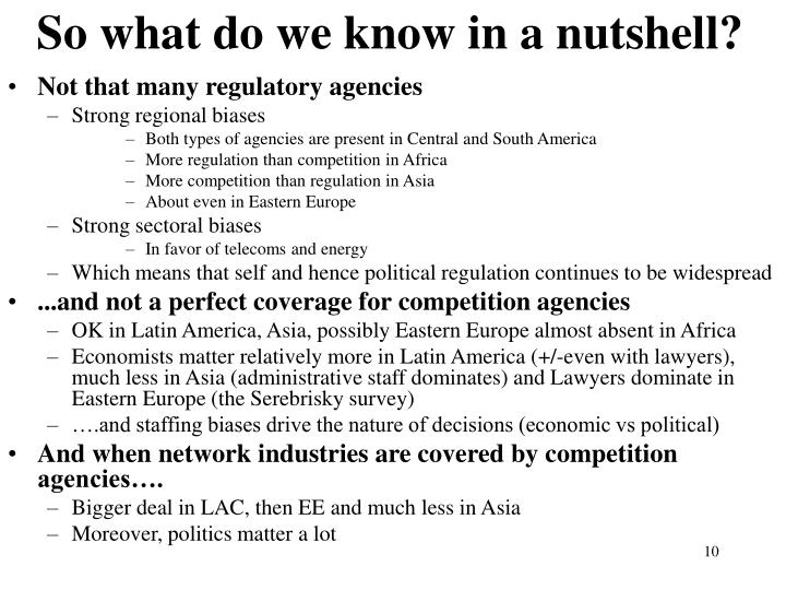 So what do we know in a nutshell?