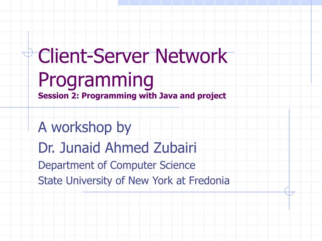 PPT - Client-Server Network Programming Session 2