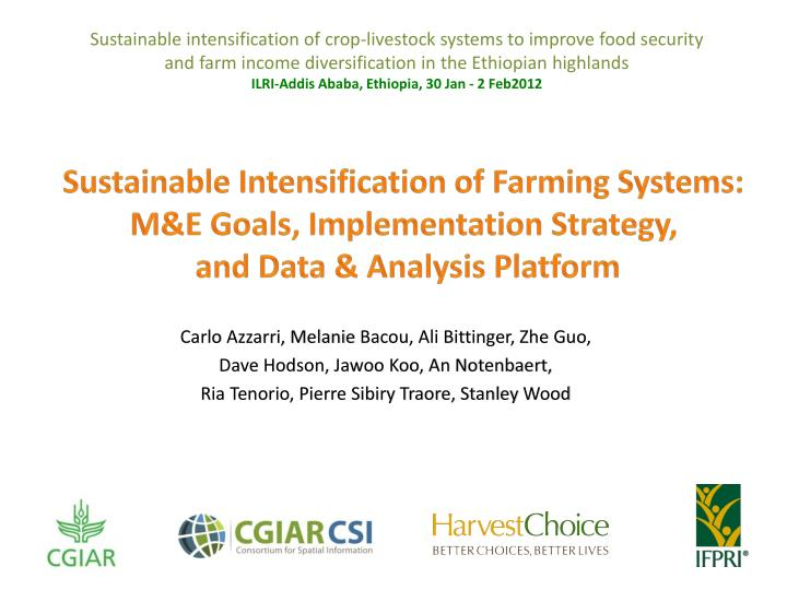 Sustainable intensification of crop-livestock systems to improve food security